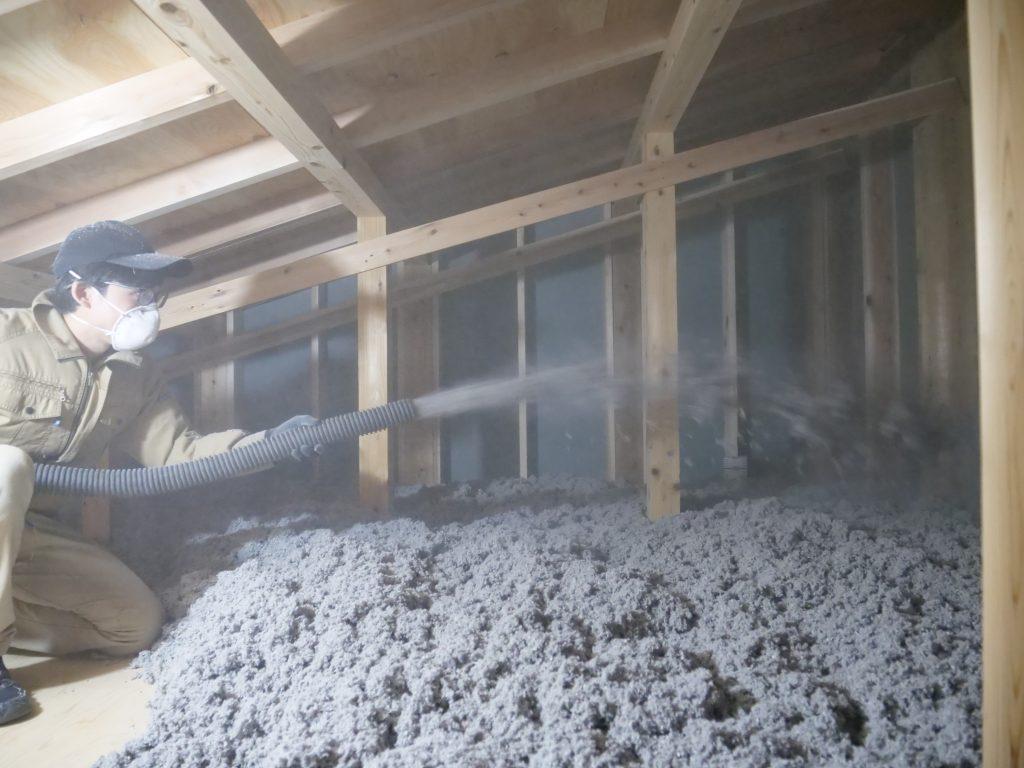浜松市西区の天井断熱